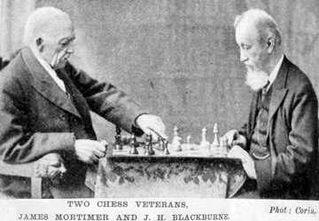 Blackburne (right) playing James Mortimer